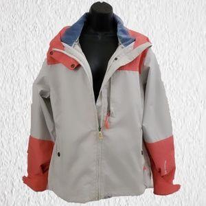 Morrow snowboard jacket size Large orange blue